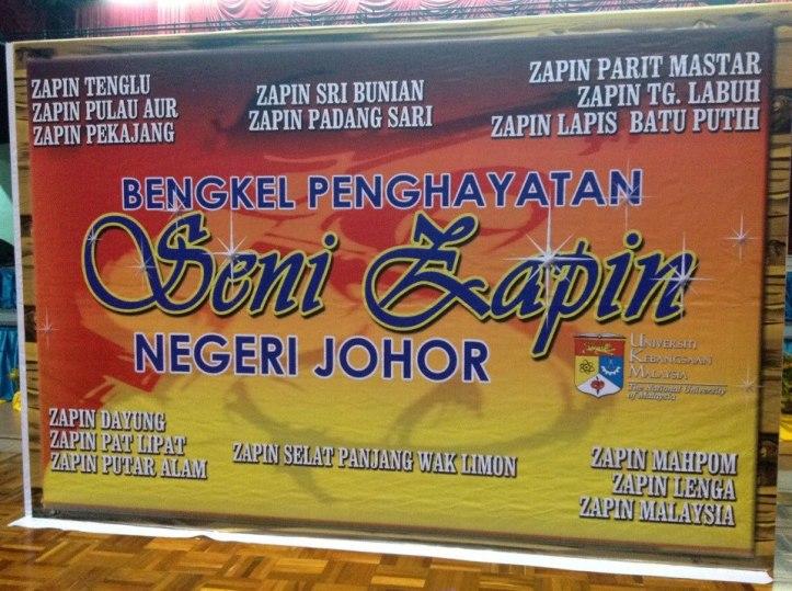 Bengkel Zapin di UKM pada 28-30hb November 2012